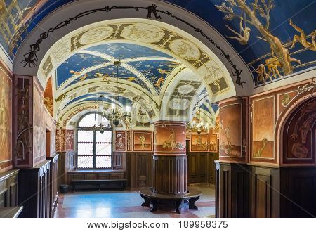 Vilnius, Lithuania - May 05, 2017: Inside The Building Of Philology Faculty, In Center Of Lithuanist
