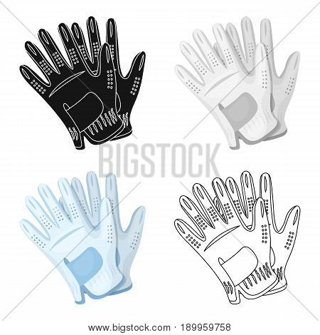 Golf gloves.Golf club single icon in cartoon style vector symbol stock illustration .