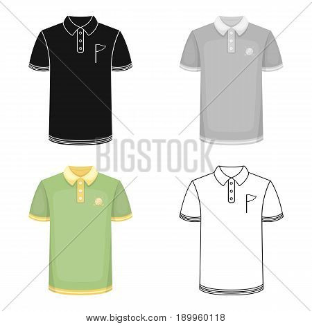 Uniform shirt for golf.Golf club single icon in cartoon style vector symbol stock illustration .
