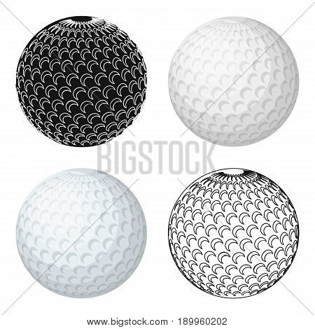 Golf ball.Golf club single icon in cartoon style vector symbol stock illustration .