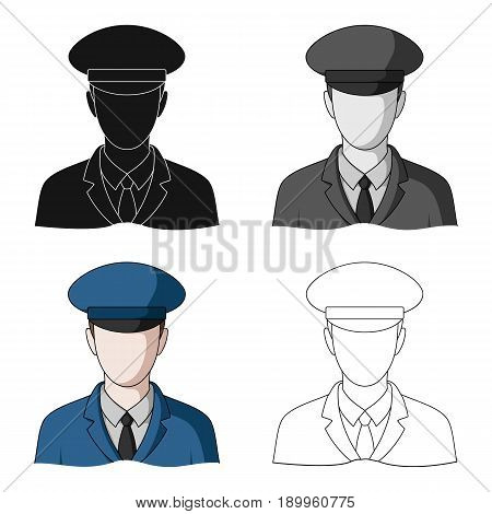 Postman.Mail and postman single icon in cartoon style vector symbol stock illustration .