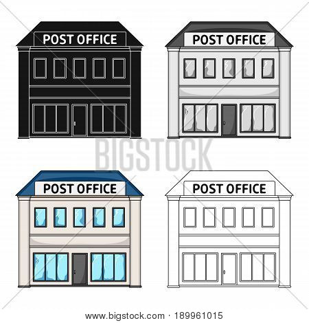 Post office.Mail and postman single icon in cartoon style vector symbol stock illustration .