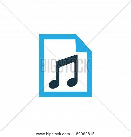 File Colorful Icon Symbol. Premium Quality Isolated Playlist Element In Trendy Style.