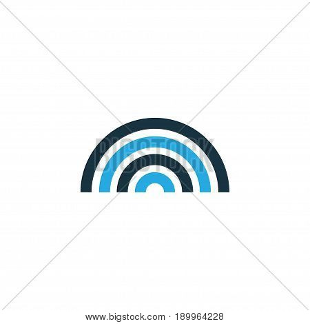 Rainbow Colorful Icon Symbol. Premium Quality Isolated Arc Element In Trendy Style.