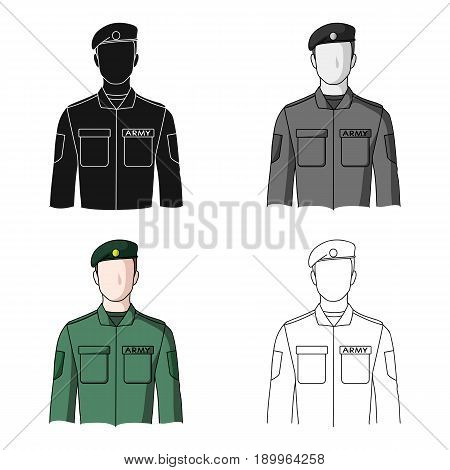 Soldier.Professions single icon in cartoon style vector symbol stock illustration .