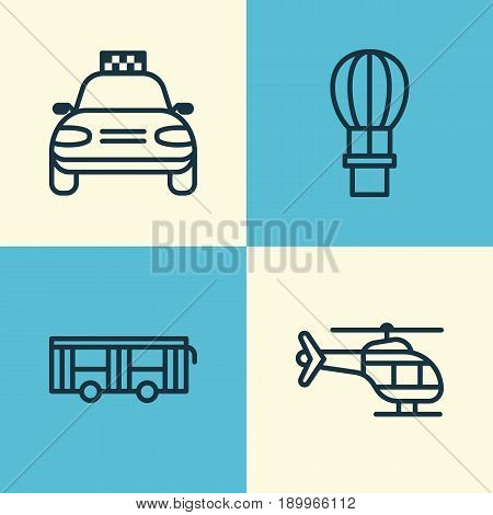 Delivery Icons Set. Collection Of Flight Vehicle, Car Vehicle, Flight Basket And Other Elements. Also Includes Symbols Such As Balloon, Air, Airplane.
