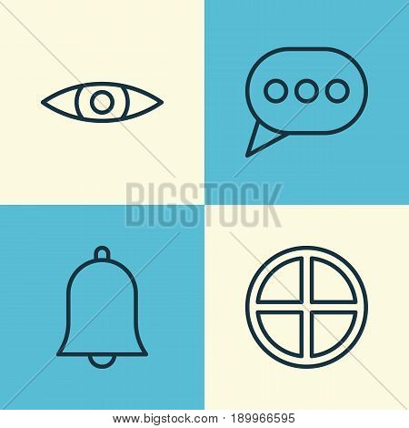 Internet Icons Set. Collection Of Alert, Positive, Message Bubble And Other Elements. Also Includes Symbols Such As Positive, Speech, Plus.