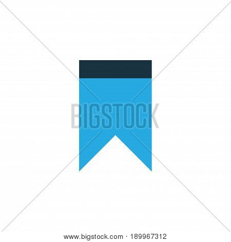 Pennant Colorful Icon Symbol. Premium Quality Isolated Bookmark Element In Trendy Style.