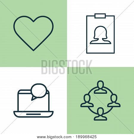 Social Icons Set. Collection Of Badge, Follow, Mail Notification And Other Elements. Also Includes Symbols Such As Identity, Feelings, Social.