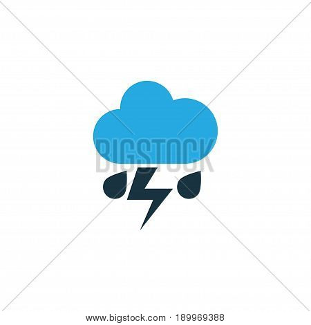 Lightning Colorful Icon Symbol. Premium Quality Isolated Thunderstorm Element In Trendy Style.