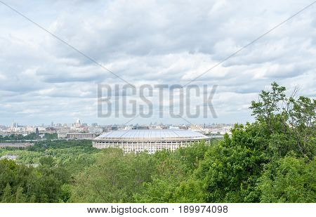 Large sports arena of the sports complex Luzhniki in Moscow