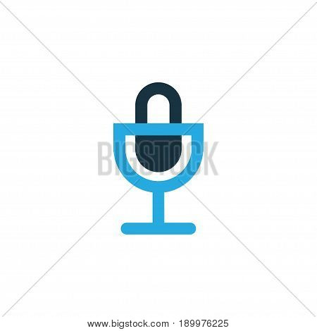 Mike Colorful Icon Symbol. Premium Quality Isolated Microphone Element In Trendy Style.