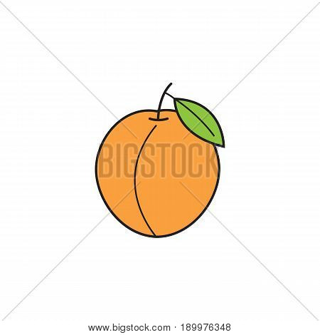 Peach solid line icon, healthy fruit, vector graphics, a colorful linear pattern on a white background, eps 10.