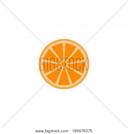 Orange solid line icon, healthy fruit, vector graphics, a colorful linear pattern on a white background, eps 10.