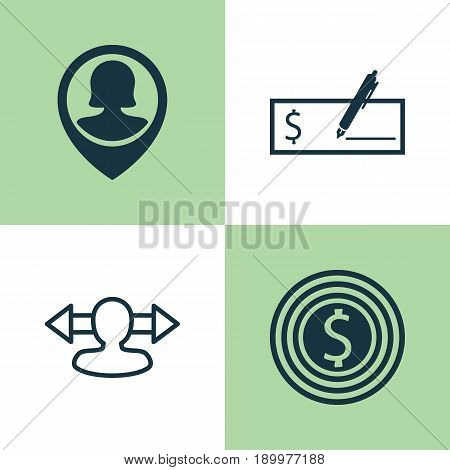 Human Icons Set. Collection Of Business Goal, Bank Payment, Reverse And Other Elements. Also Includes Symbols Such As Bank, Dollar, Direction.