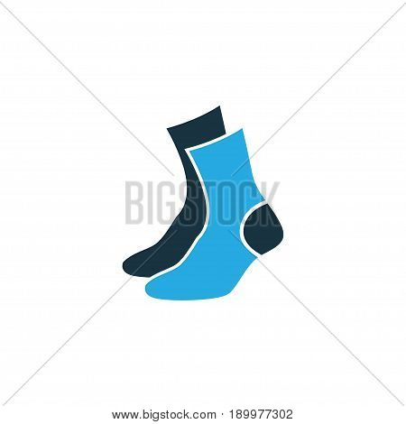 Half-Hose Colorful Icon Symbol. Premium Quality Isolated Socks Element In Trendy Style.