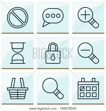 Icons Set. Collection Of Obstacle, Safeguard, Calendar And Other Elements. Also Includes Symbols Such As Date, Shopping, Block.