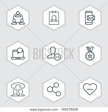 Communication Icons Set. Collection Of Publication, Medal, Unfollow Icon And Other Elements. Also Includes Symbols Such As New, People, Publish.