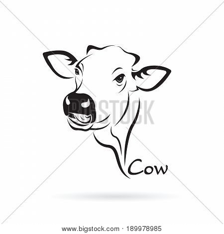 Vector of cow head design on white background. Farm Animal.