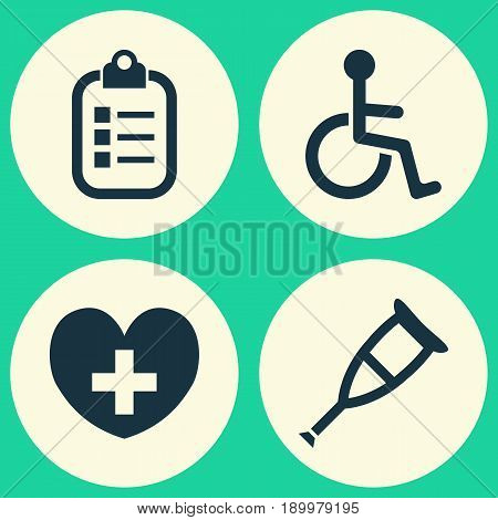 Drug Icons Set. Collection Of Disabled, Spike, Mark And Other Elements. Also Includes Symbols Such As Heal, Pill, Invalid.