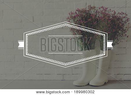 Boots Flower Decoration Banner Frame