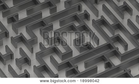 Maze concept. Computer generated 3D photo rendering.