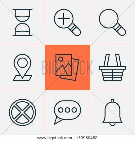 Network Icons Set. Collection Of Pinpoint, Alert, Exit And Other Elements. Also Includes Symbols Such As Message, Siren, Pinpoint.