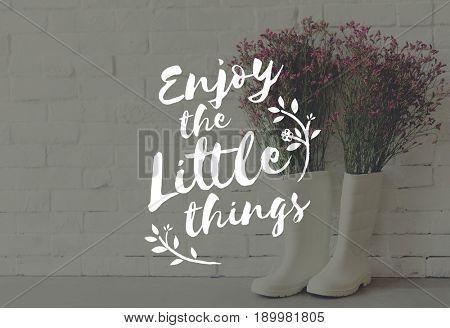 Positive Break Enjoy Moment Flower Boots