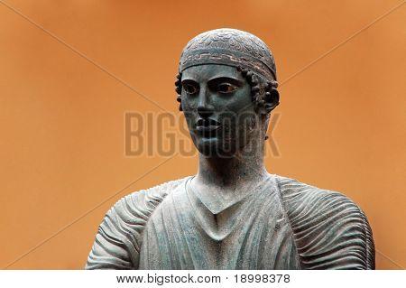 Ancient Greek sculpture from Delfi.