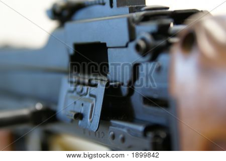 Close-Up Of Soviet Machine-Gun Rpd-44 Iv