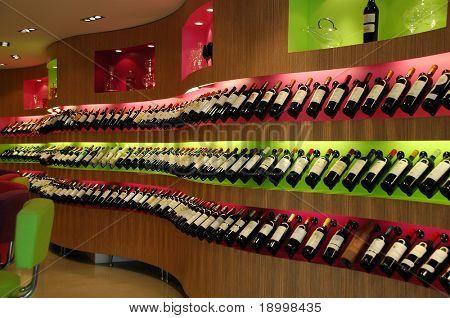 Tienda de vinos de lujo