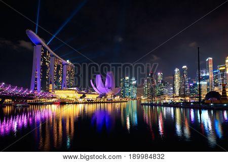 Singapore city skyline Singapore's business district Singapore