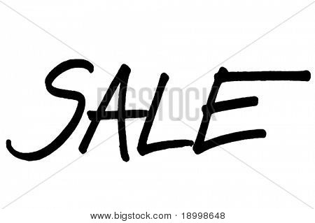 Word Sale; use for sales anouncement in stores. Hand writed.