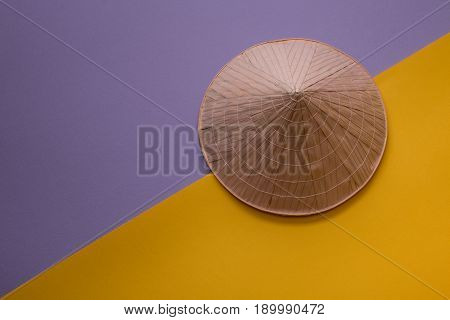 Asian Hat On Creative Background