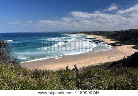 1080 Beach in Eurobodalla National Park near Mystery Bay on the far south coast of NSW is a great spot for surfing fishing and picnicking with a view.