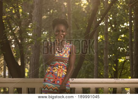 One, Young Adult, Black African American Happy Smiling Laughing Candid Sincere Woman 20-29 Years, St
