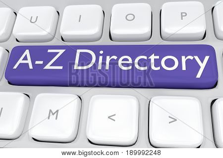 A-z Directory Concept