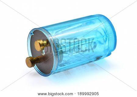 fluorescent light starter isolate on white background