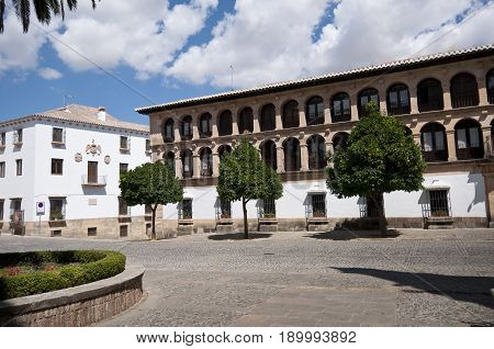 Main Square in Ronda, Malaga, Andalusia, Spain