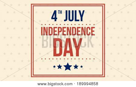 Vector art of independence day background collection stock