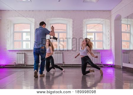 Guy Shoots Video And Photos Of A Rehearsal Dance At The Athletic