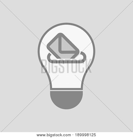 Isolated Light Bulb With  A Ballot Box