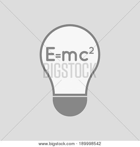 Isolated Light Bulb With The Theory Of Relativity Formula
