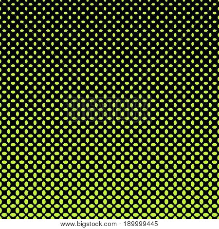Green and black ellipse pattern halftone background - abstract vector illustration