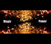 Abstract magic and power background poster