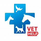 Sign - Veterinary Relief Services. Vet template. poster