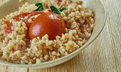 Burghul Banadoura - Lebanese middleeastern cracked wheat with tomatoes poster