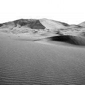the empty quarter and outdoor sand dune in oman old desert rub al khali poster