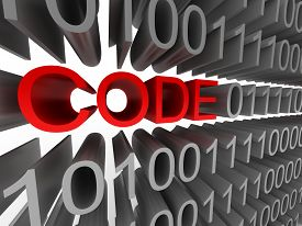 Binary code isolated on white background. High quality 3d render.