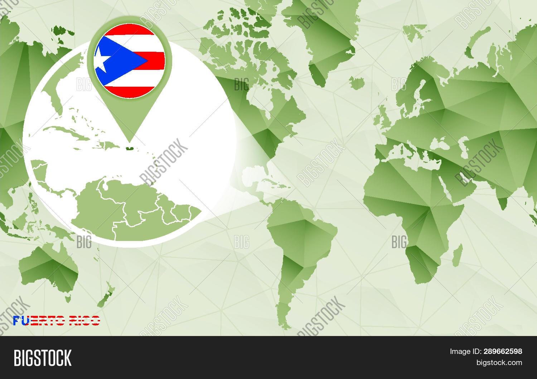 America Centric World Vector & Photo (Free Trial) | Bigstock